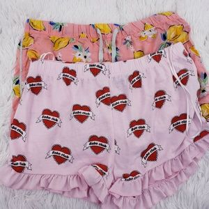 Topshop & Gillagan Women's intimate Pajama Shorts